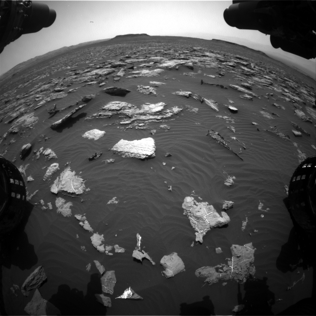 Nasa's Mars rover Curiosity acquired this image using its Front Hazard Avoidance Camera (Front Hazcam) on Sol 1507, at drive 612, site number 59