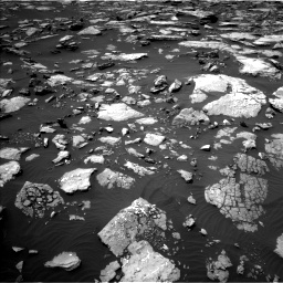 Nasa's Mars rover Curiosity acquired this image using its Left Navigation Camera on Sol 1508, at drive 750, site number 59