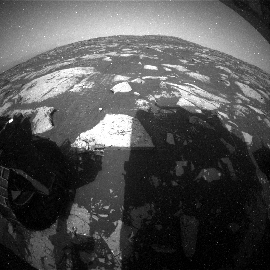NASA's Mars rover Curiosity acquired this image using its Rear Hazard Avoidance Cameras (Rear Hazcams) on Sol 1508
