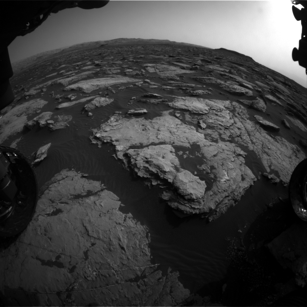 Nasa's Mars rover Curiosity acquired this image using its Front Hazard Avoidance Camera (Front Hazcam) on Sol 1509, at drive 1260, site number 59