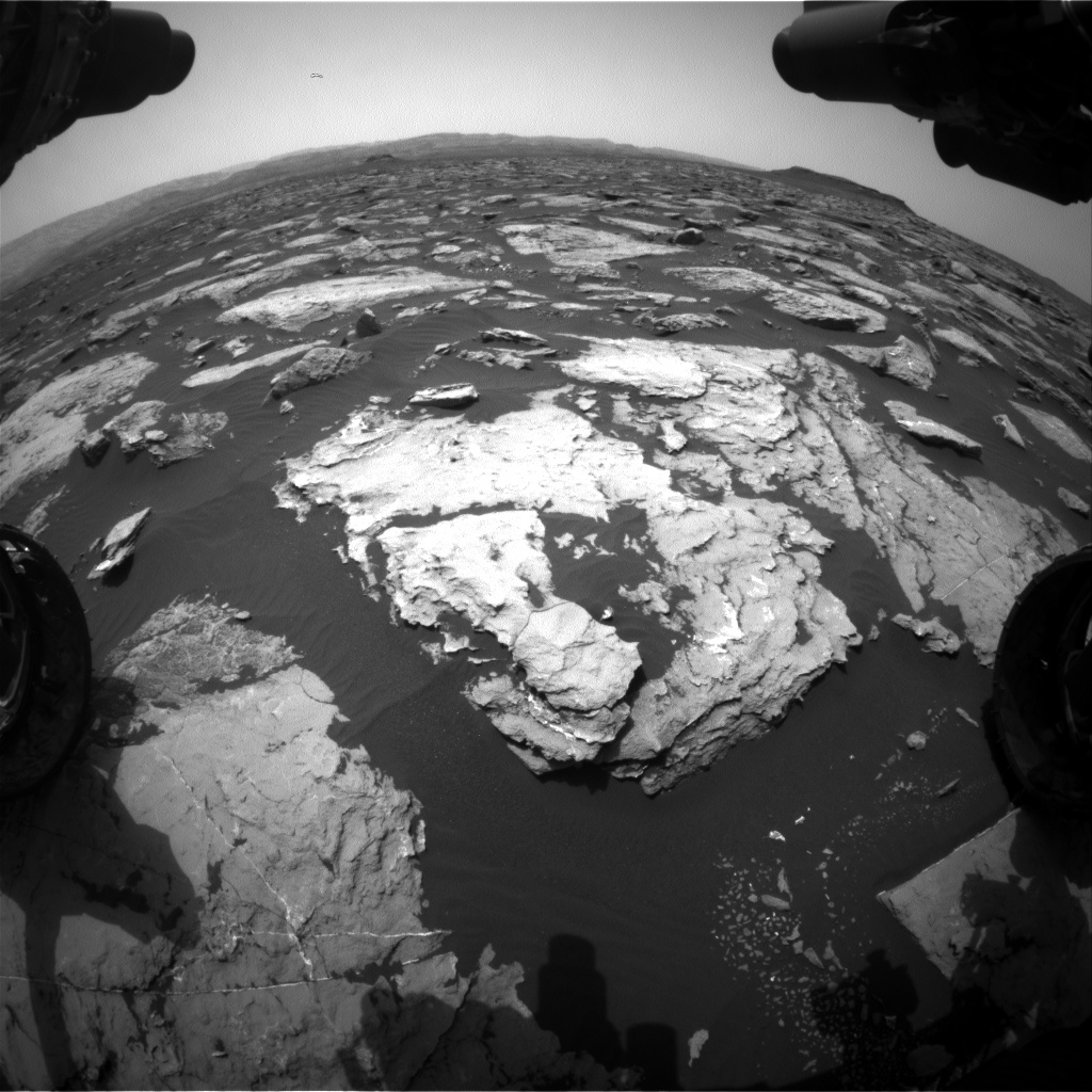 Nasa's Mars rover Curiosity acquired this image using its Front Hazard Avoidance Camera (Front Hazcam) on Sol 1510, at drive 1260, site number 59
