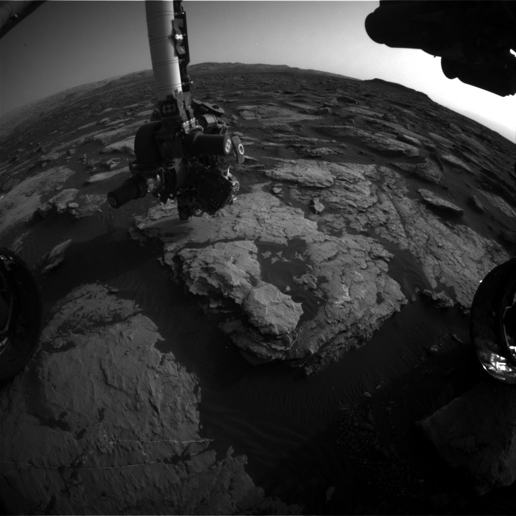 Nasa's Mars rover Curiosity acquired this image using its Front Hazard Avoidance Camera (Front Hazcam) on Sol 1511, at drive 1260, site number 59
