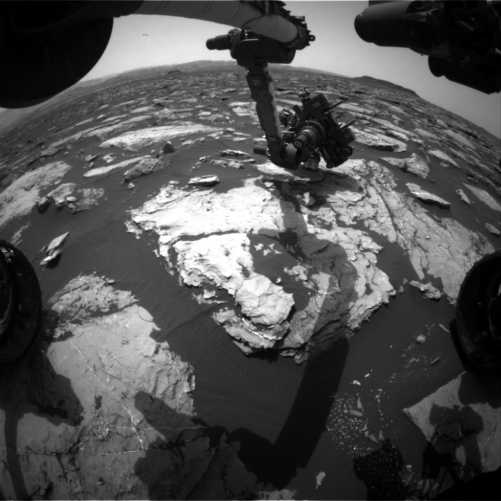Nasa's Mars rover Curiosity acquired this image using its Front Hazard Avoidance Camera (Front Hazcam) on Sol 1512, at drive 1260, site number 59
