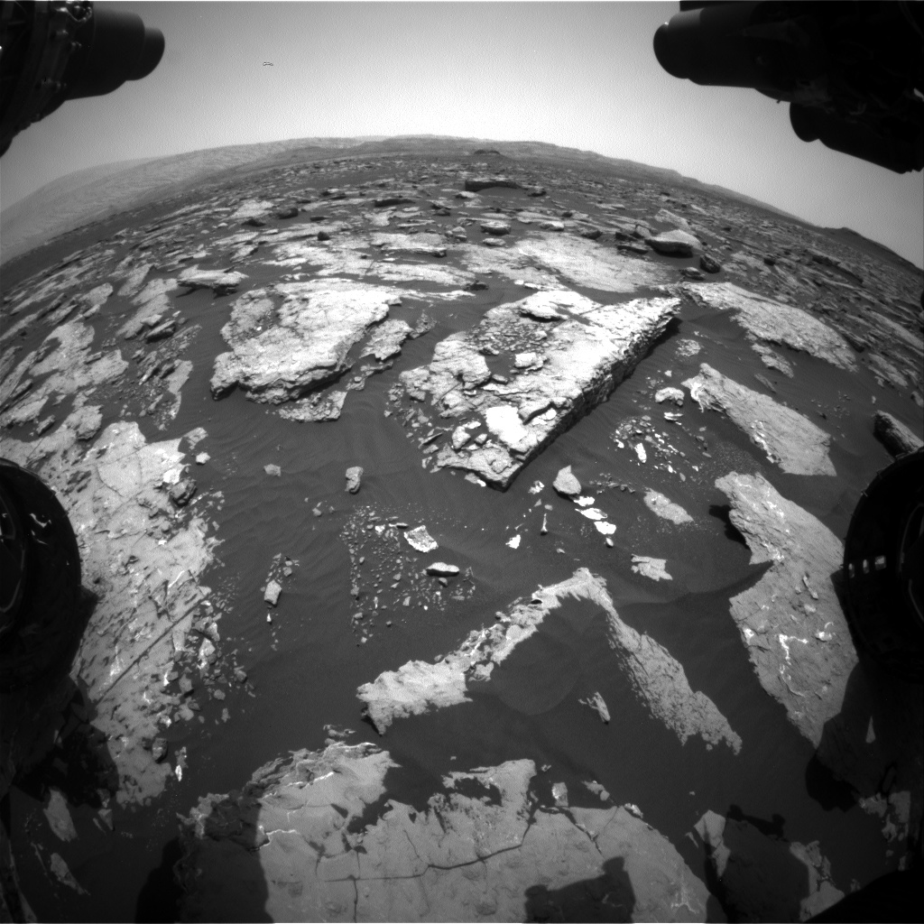 Nasa's Mars rover Curiosity acquired this image using its Front Hazard Avoidance Camera (Front Hazcam) on Sol 1513, at drive 1596, site number 59
