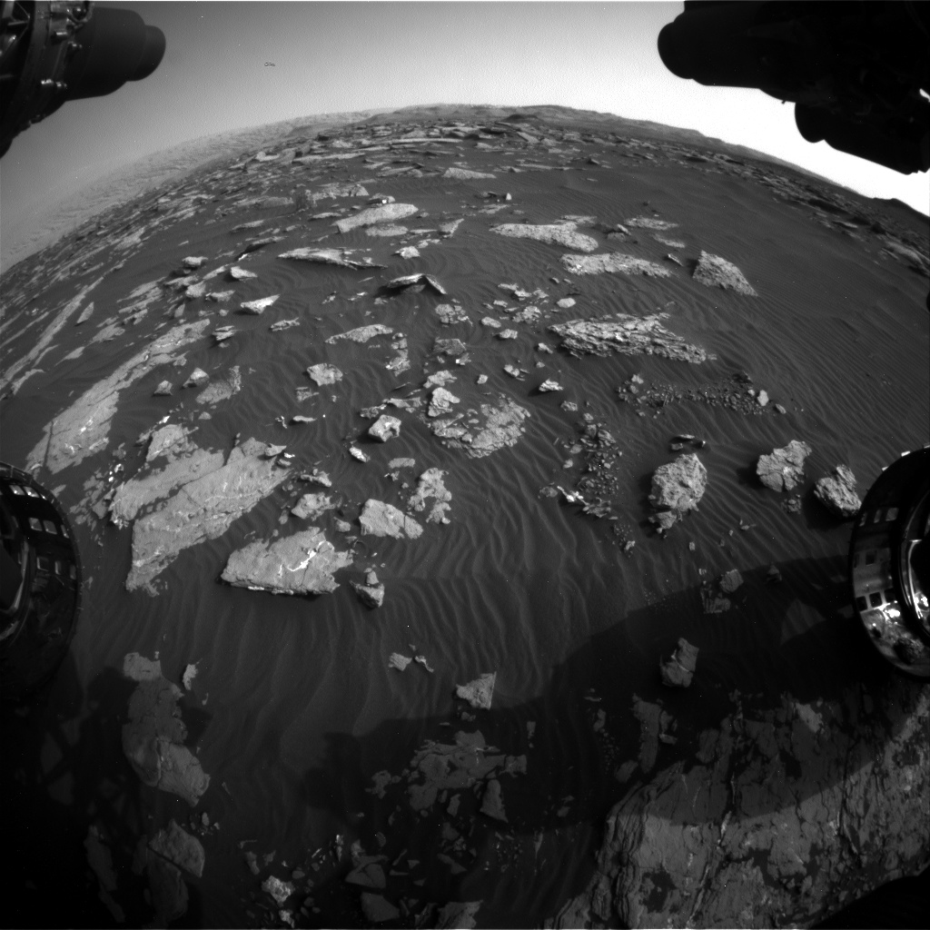 Nasa's Mars rover Curiosity acquired this image using its Front Hazard Avoidance Camera (Front Hazcam) on Sol 1514, at drive 1998, site number 59