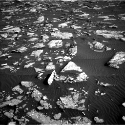 Nasa's Mars rover Curiosity acquired this image using its Left Navigation Camera on Sol 1514, at drive 1944, site number 59