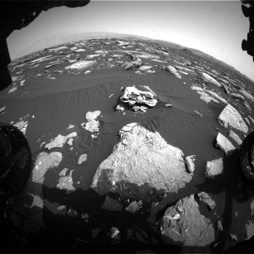 Nasa's Mars rover Curiosity acquired this image using its Front Hazard Avoidance Camera (Front Hazcam) on Sol 1516, at drive 2242, site number 59