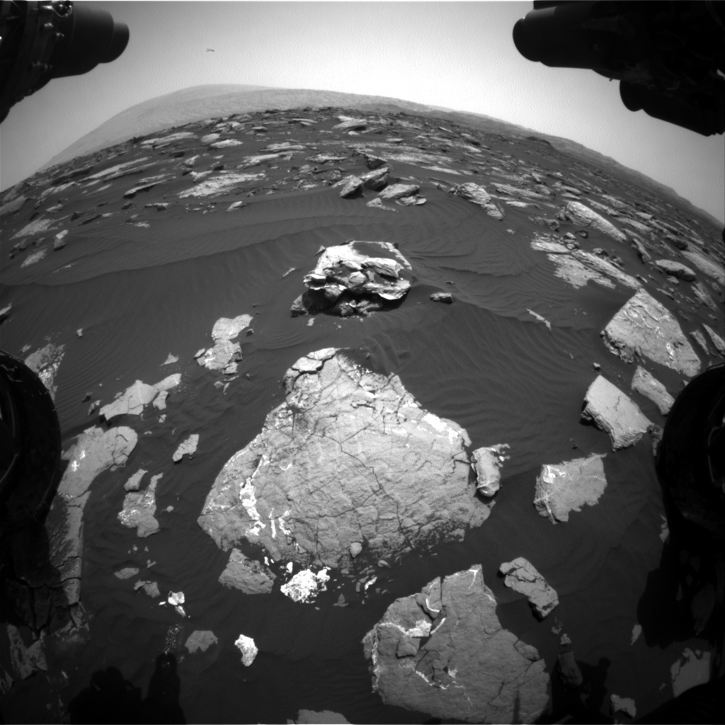 Nasa's Mars rover Curiosity acquired this image using its Front Hazard Avoidance Camera (Front Hazcam) on Sol 1517, at drive 2242, site number 59