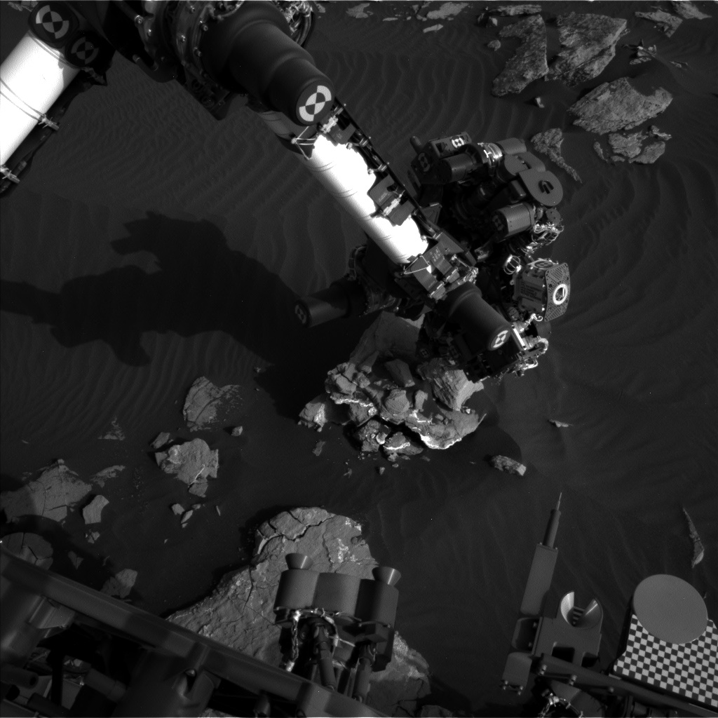 Nasa's Mars rover Curiosity acquired this image using its Left Navigation Camera on Sol 1518, at drive 2242, site number 59