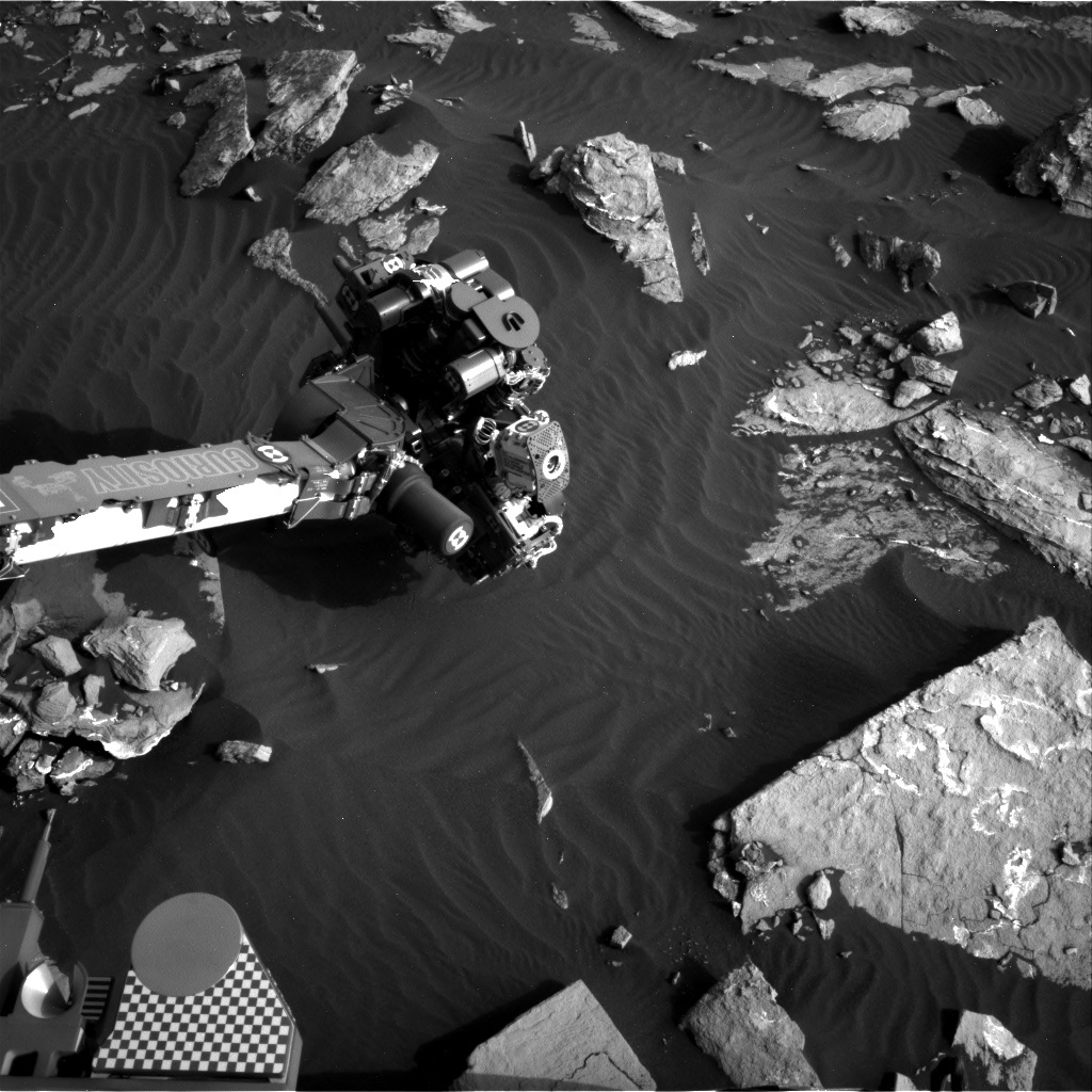 NASA's Mars rover Curiosity acquired this image using its Right Navigation Cameras (Navcams) on Sol 1518