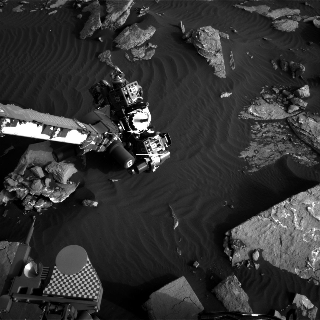 Nasa's Mars rover Curiosity acquired this image using its Right Navigation Camera on Sol 1518, at drive 2242, site number 59