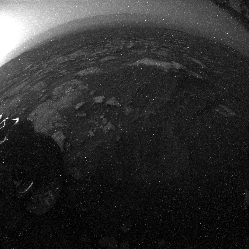NASA's Mars rover Curiosity acquired this image using its Rear Hazard Avoidance Cameras (Rear Hazcams) on Sol 1518