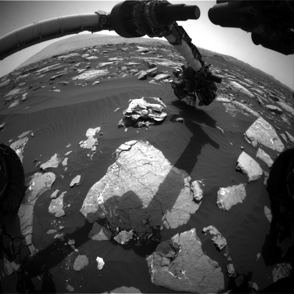 Nasa's Mars rover Curiosity acquired this image using its Front Hazard Avoidance Camera (Front Hazcam) on Sol 1519, at drive 2242, site number 59