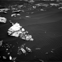 Nasa's Mars rover Curiosity acquired this image using its Left Navigation Camera on Sol 1519, at drive 2350, site number 59