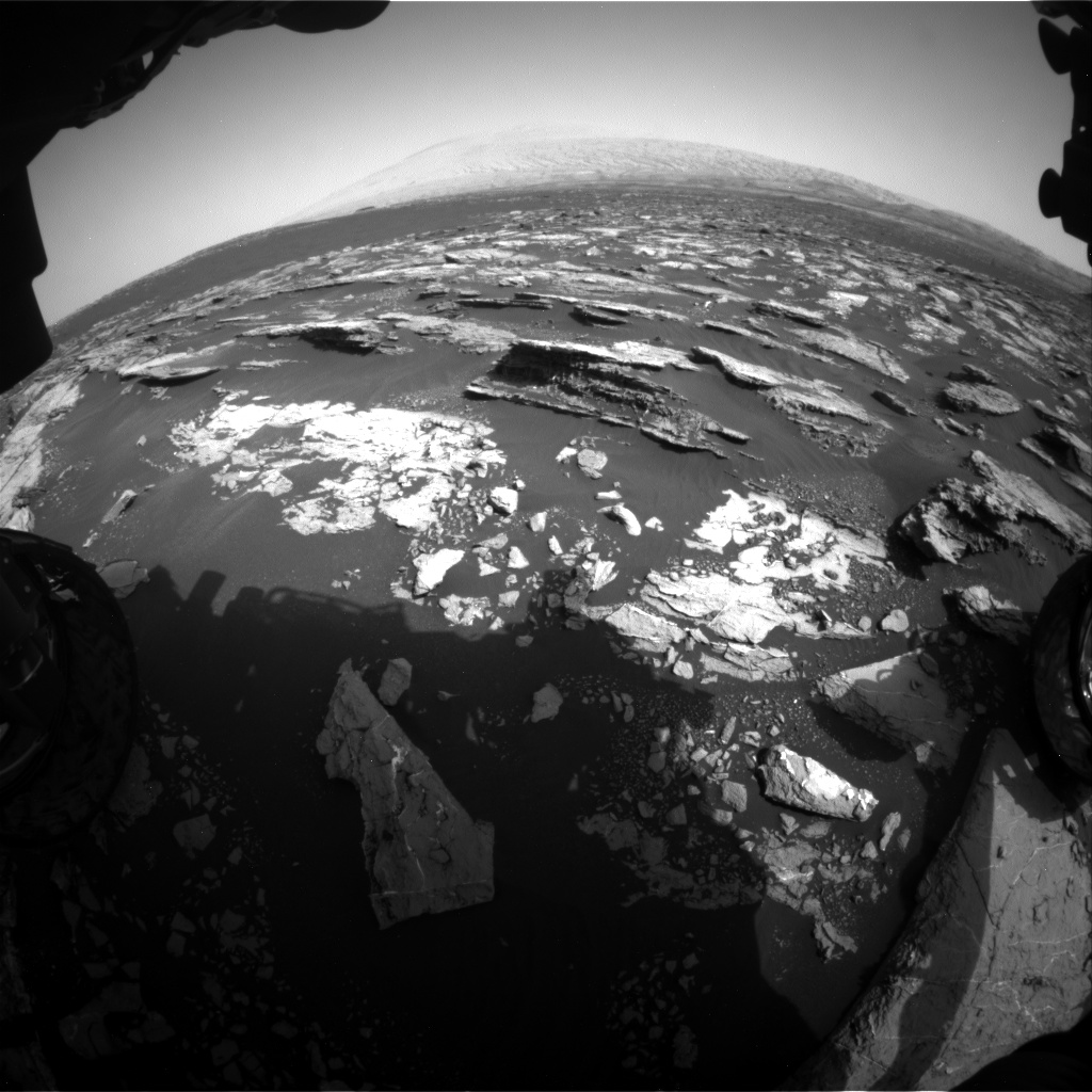 Nasa's Mars rover Curiosity acquired this image using its Front Hazard Avoidance Camera (Front Hazcam) on Sol 1521, at drive 2668, site number 59