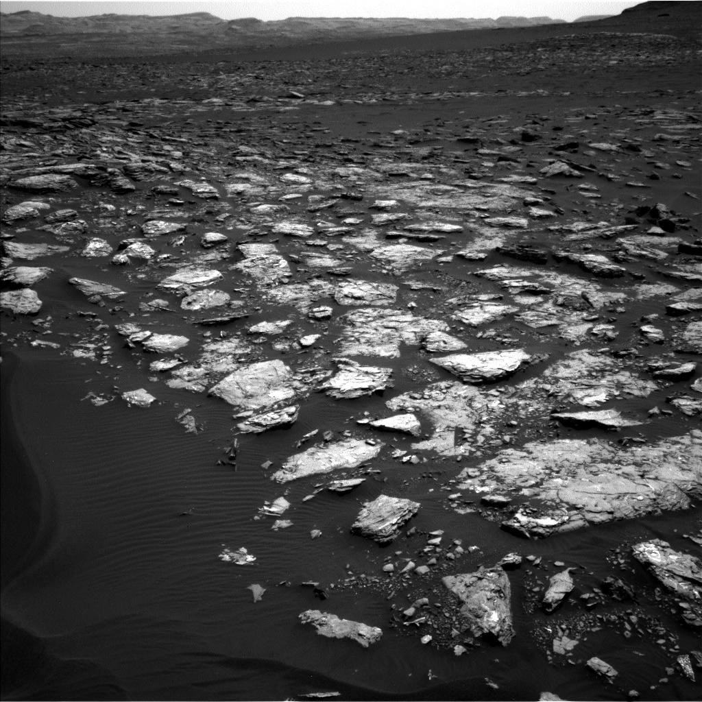 NASA's Mars rover Curiosity acquired this image using its Left Navigation Camera (Navcams) on Sol 1521