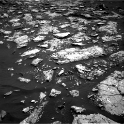 Nasa's Mars rover Curiosity acquired this image using its Right Navigation Camera on Sol 1521, at drive 2662, site number 59