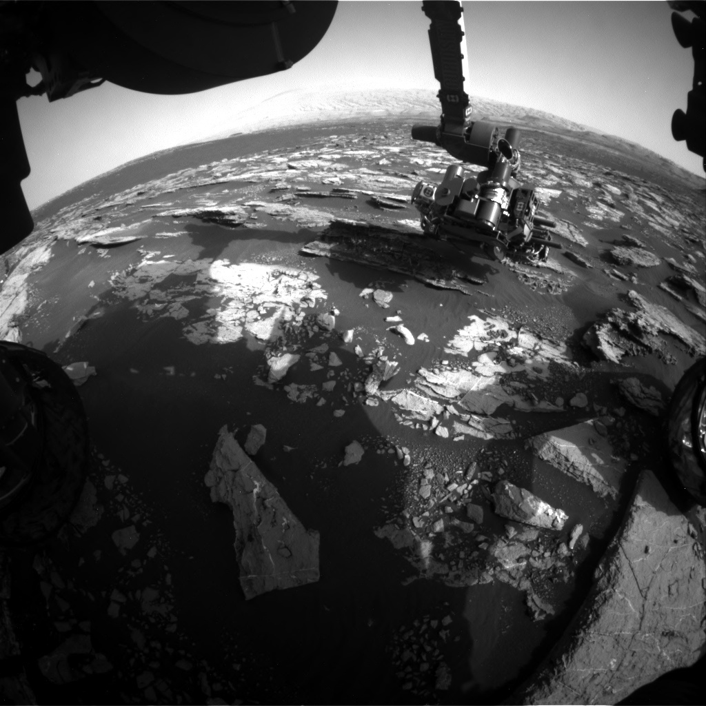 NASA's Mars rover Curiosity acquired this image using its Front Hazard Avoidance Cameras (Front Hazcams) on Sol 1523