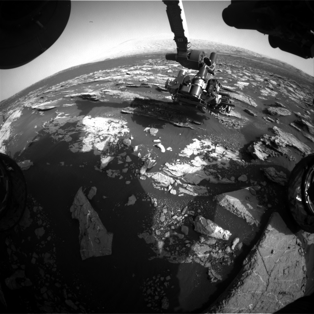 Nasa's Mars rover Curiosity acquired this image using its Front Hazard Avoidance Camera (Front Hazcam) on Sol 1523, at drive 2668, site number 59
