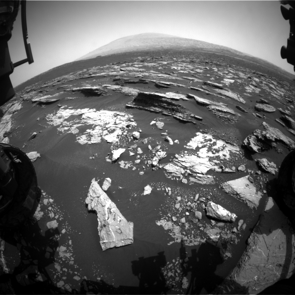 NASA's Mars rover Curiosity acquired this image using its Front Hazard Avoidance Cameras (Front Hazcams) on Sol 1524