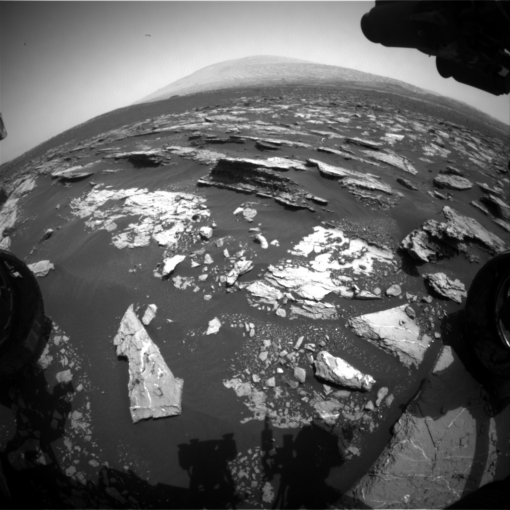Nasa's Mars rover Curiosity acquired this image using its Front Hazard Avoidance Camera (Front Hazcam) on Sol 1524, at drive 2668, site number 59