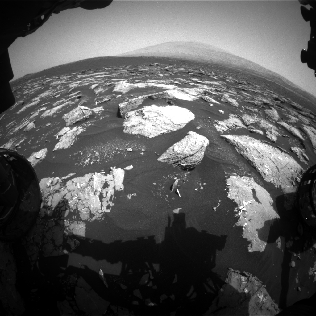 NASA's Mars rover Curiosity acquired this image using its Front Hazard Avoidance Cameras (Front Hazcams) on Sol 1526
