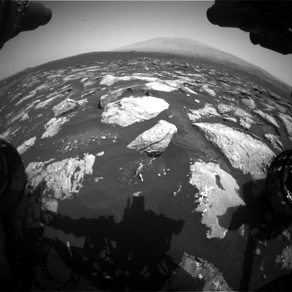 Nasa's Mars rover Curiosity acquired this image using its Front Hazard Avoidance Camera (Front Hazcam) on Sol 1526, at drive 2830, site number 59