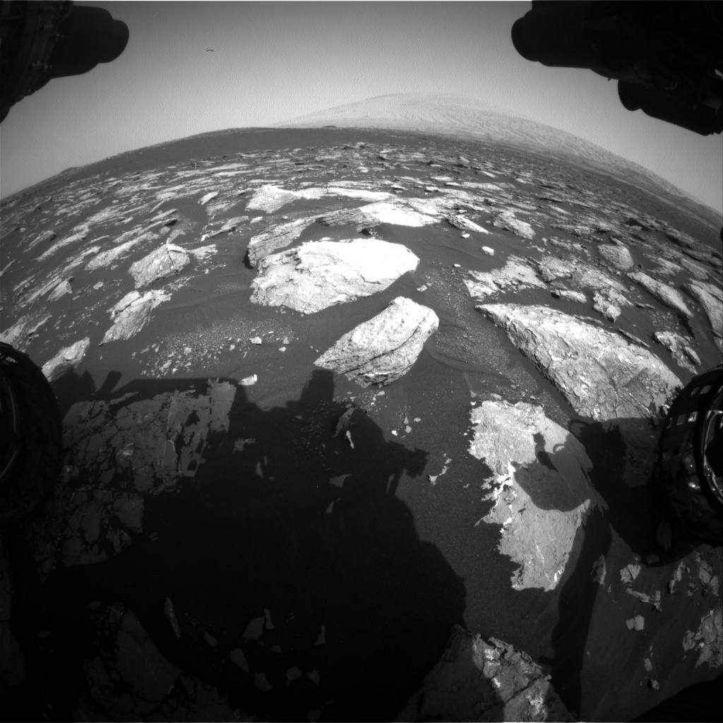 Nasa's Mars rover Curiosity acquired this image using its Front Hazard Avoidance Camera (Front Hazcam) on Sol 1527, at drive 2830, site number 59