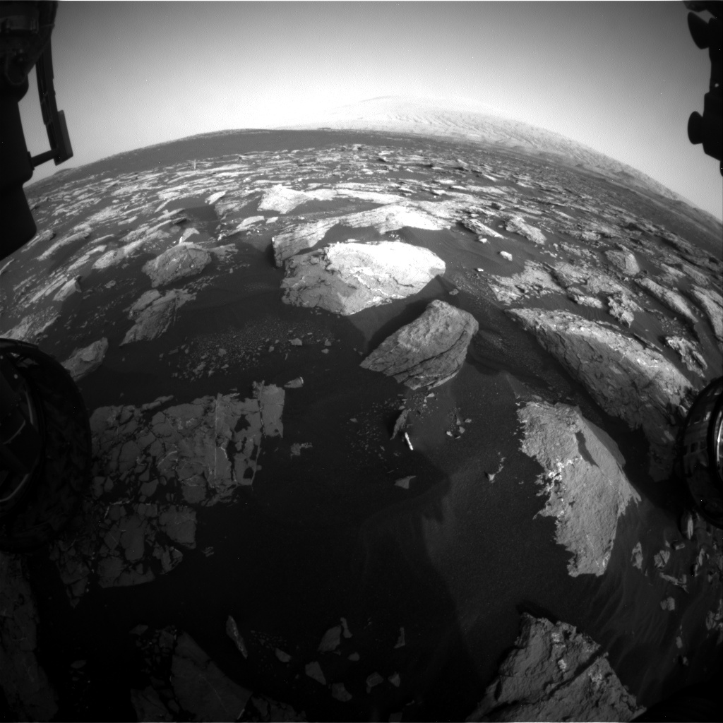 Nasa's Mars rover Curiosity acquired this image using its Front Hazard Avoidance Camera (Front Hazcam) on Sol 1528, at drive 2830, site number 59
