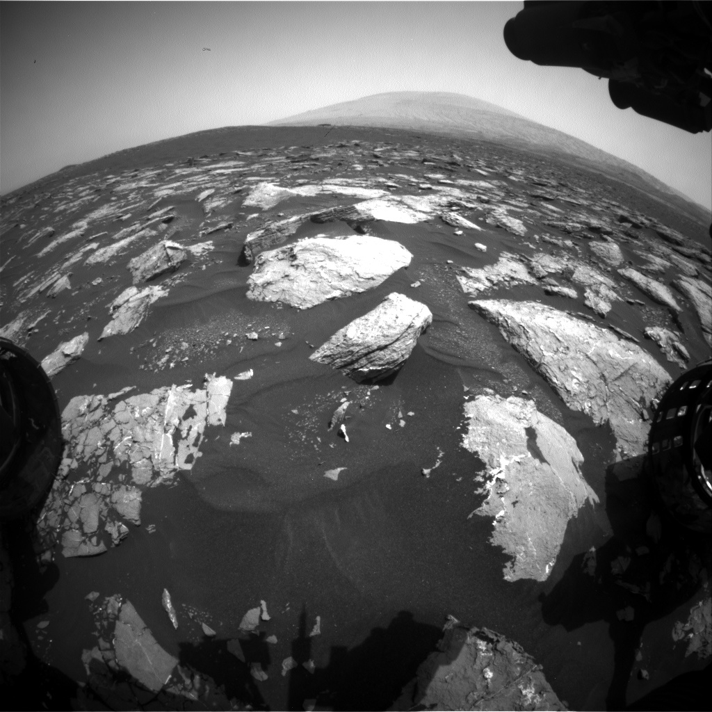 Nasa's Mars rover Curiosity acquired this image using its Front Hazard Avoidance Camera (Front Hazcam) on Sol 1529, at drive 2830, site number 59