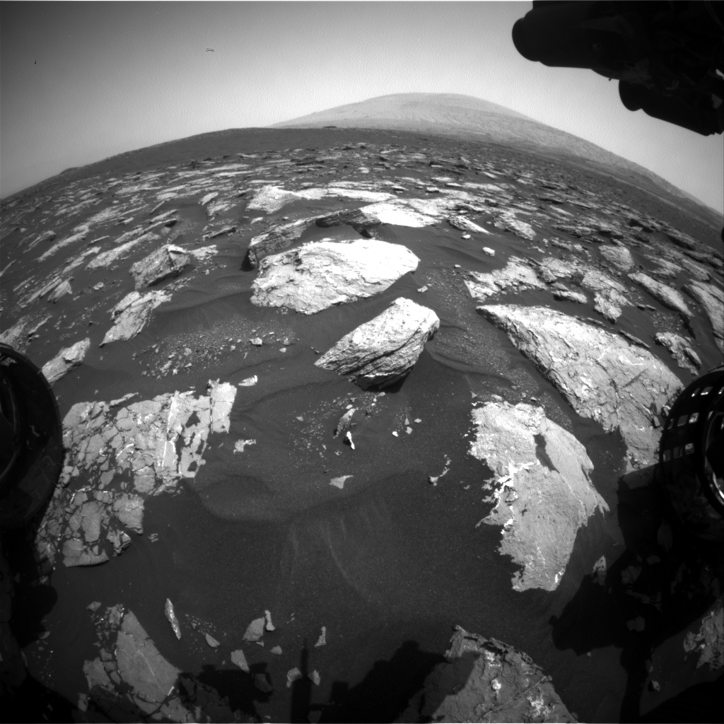 Nasa's Mars rover Curiosity acquired this image using its Front Hazard Avoidance Camera (Front Hazcam) on Sol 1530, at drive 2830, site number 59