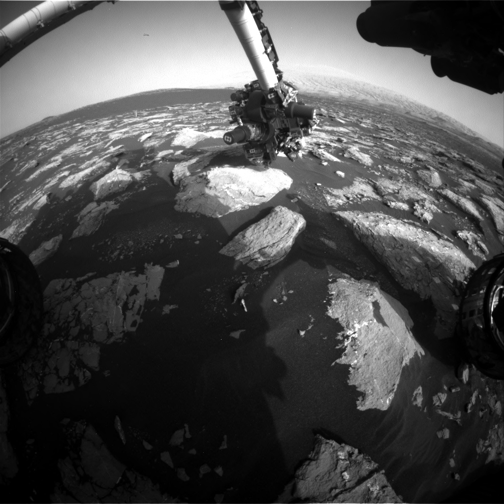 Nasa's Mars rover Curiosity acquired this image using its Front Hazard Avoidance Camera (Front Hazcam) on Sol 1531, at drive 2830, site number 59