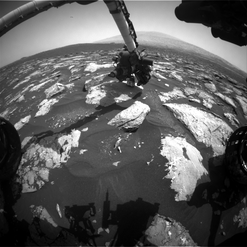 Nasa's Mars rover Curiosity acquired this image using its Front Hazard Avoidance Camera (Front Hazcam) on Sol 1532, at drive 2830, site number 59