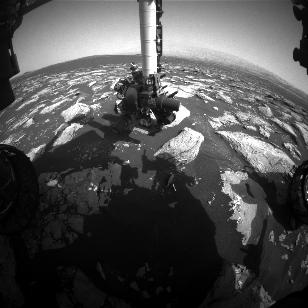 Nasa's Mars rover Curiosity acquired this image using its Front Hazard Avoidance Camera (Front Hazcam) on Sol 1533, at drive 2830, site number 59