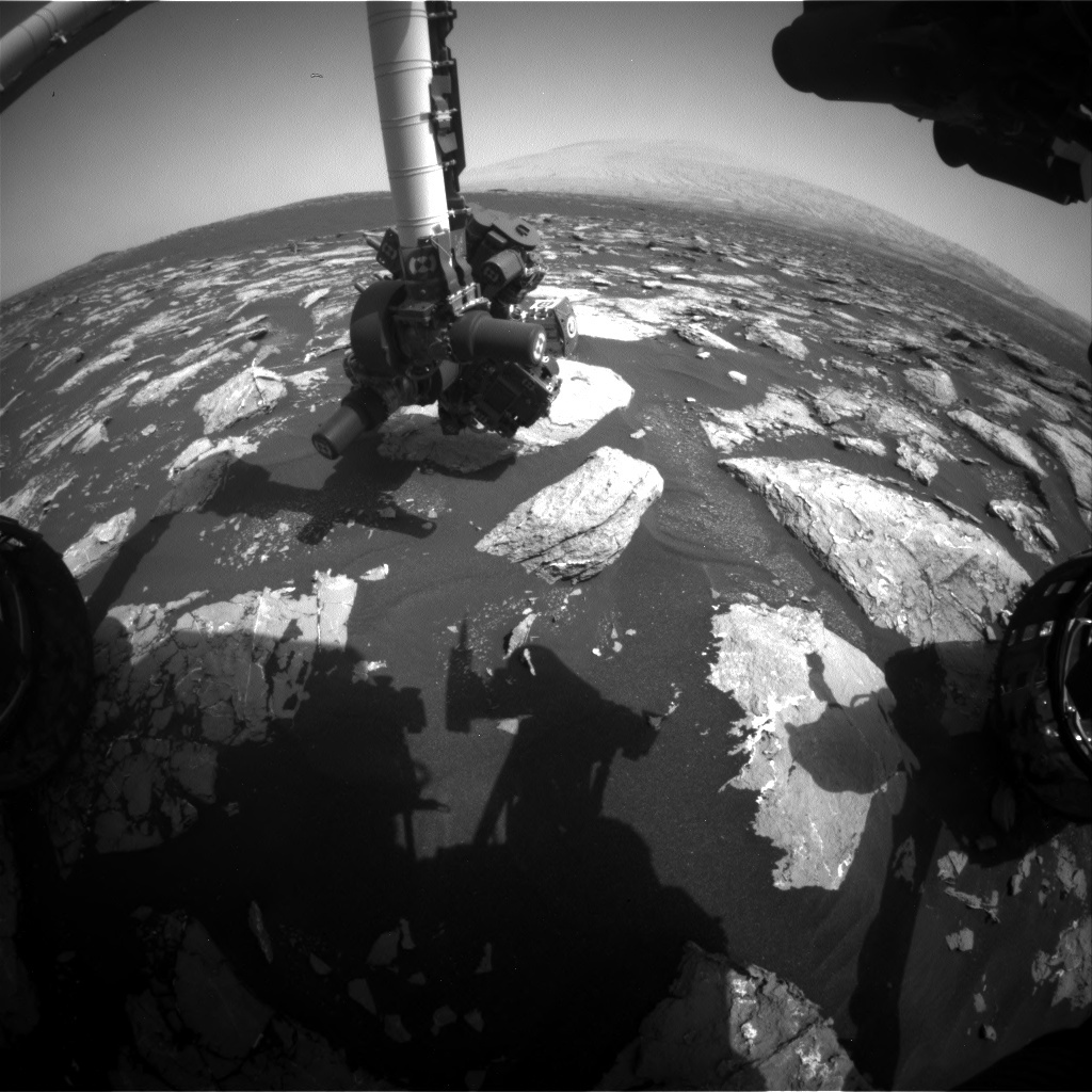 NASA's Mars rover Curiosity acquired this image using its Front Hazard Avoidance Cameras (Front Hazcams) on Sol 1533