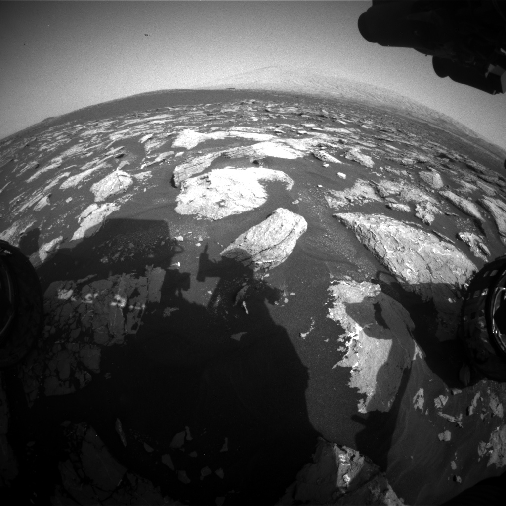 Nasa's Mars rover Curiosity acquired this image using its Front Hazard Avoidance Camera (Front Hazcam) on Sol 1534, at drive 2830, site number 59