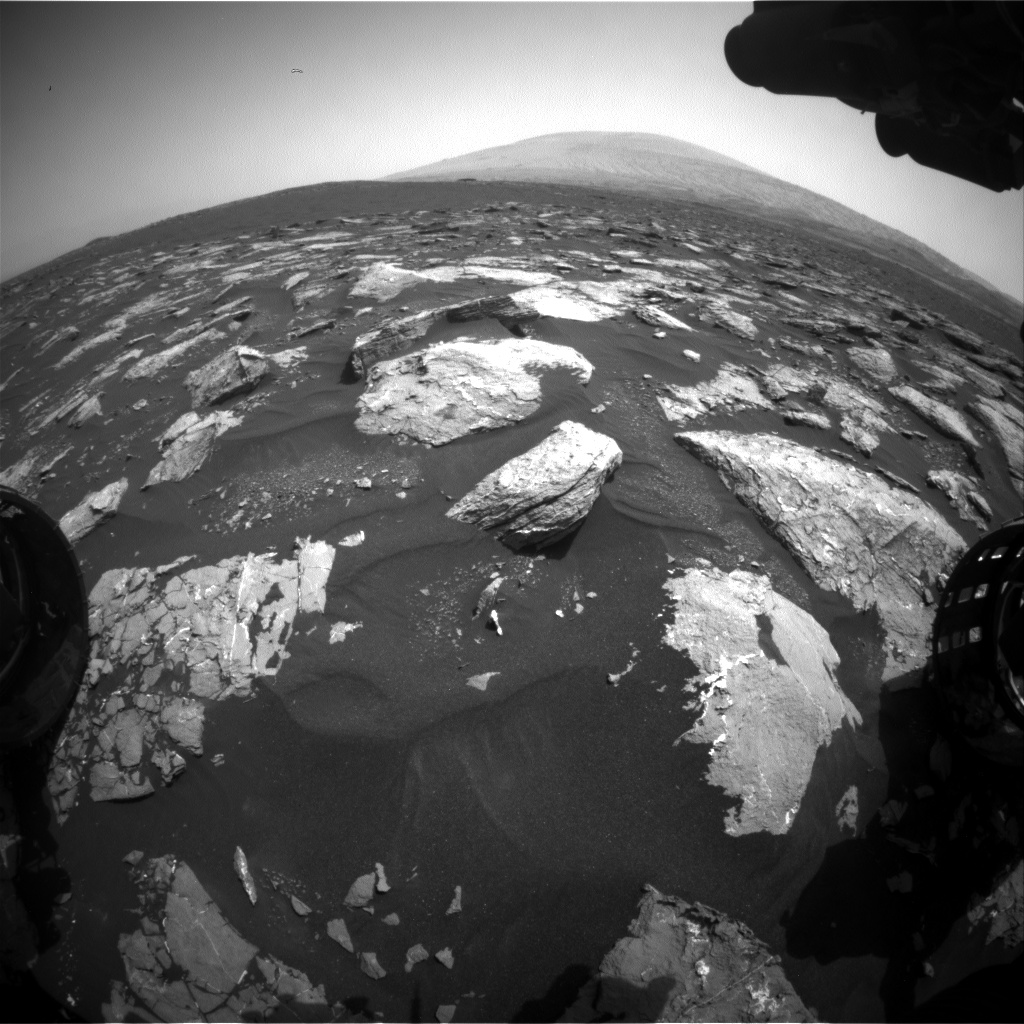 Nasa's Mars rover Curiosity acquired this image using its Front Hazard Avoidance Camera (Front Hazcam) on Sol 1535, at drive 2830, site number 59