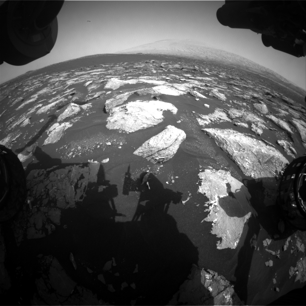 Nasa's Mars rover Curiosity acquired this image using its Front Hazard Avoidance Camera (Front Hazcam) on Sol 1536, at drive 2830, site number 59