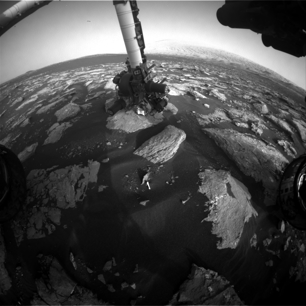 Nasa's Mars rover Curiosity acquired this image using its Front Hazard Avoidance Camera (Front Hazcam) on Sol 1537, at drive 2830, site number 59