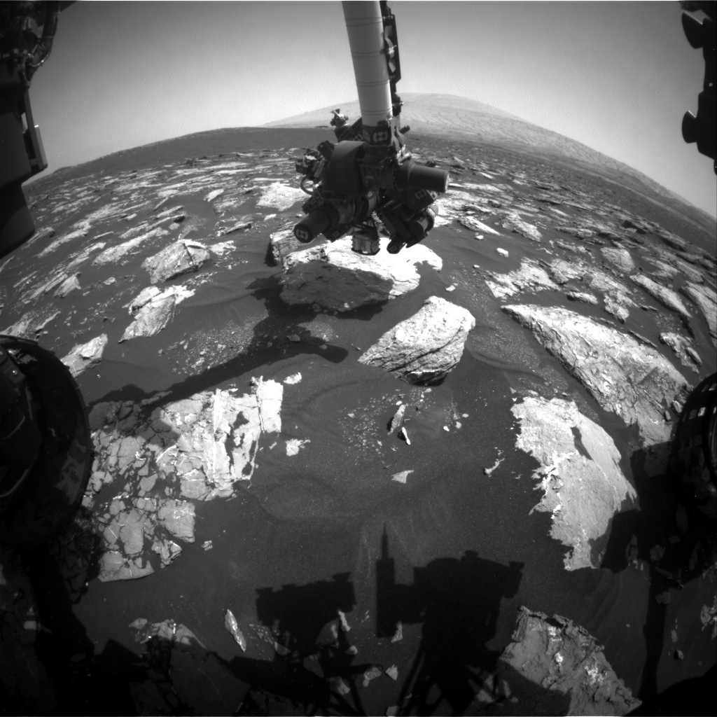 NASA's Mars rover Curiosity acquired this image using its Front Hazard Avoidance Cameras (Front Hazcams) on Sol 1539
