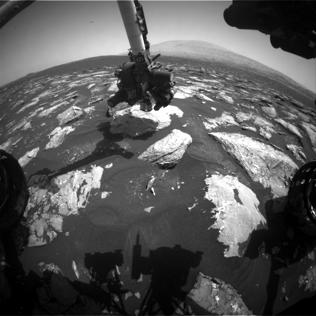 Nasa's Mars rover Curiosity acquired this image using its Front Hazard Avoidance Camera (Front Hazcam) on Sol 1539, at drive 2830, site number 59