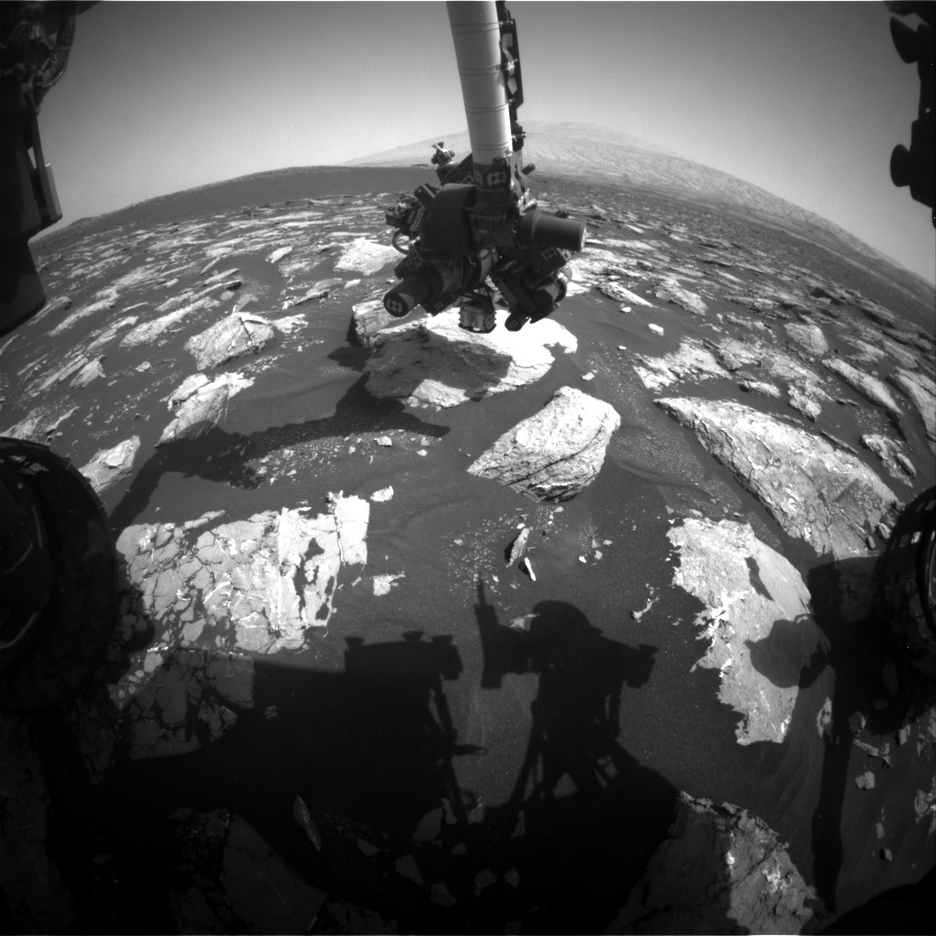 Nasa's Mars rover Curiosity acquired this image using its Front Hazard Avoidance Camera (Front Hazcam) on Sol 1540, at drive 2830, site number 59