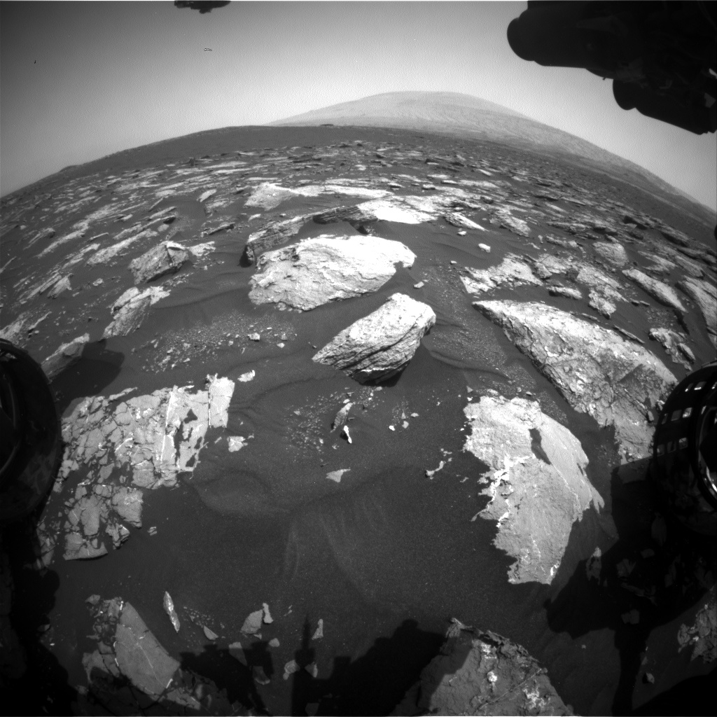 Nasa's Mars rover Curiosity acquired this image using its Front Hazard Avoidance Camera (Front Hazcam) on Sol 1542, at drive 2830, site number 59