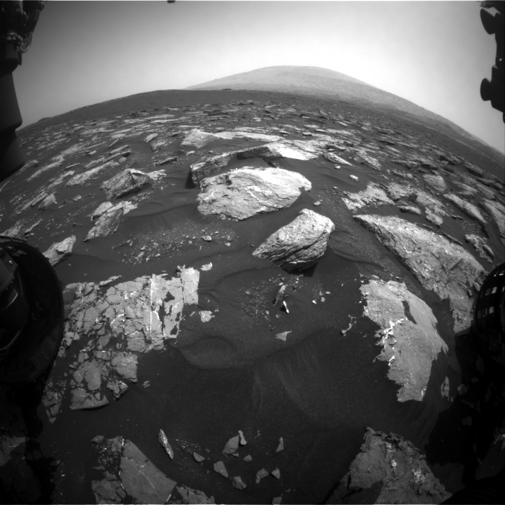 Nasa's Mars rover Curiosity acquired this image using its Front Hazard Avoidance Camera (Front Hazcam) on Sol 1543, at drive 2830, site number 59