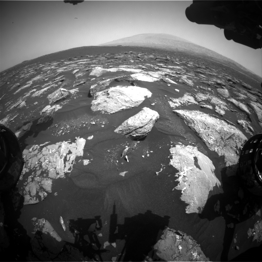 Nasa's Mars rover Curiosity acquired this image using its Front Hazard Avoidance Camera (Front Hazcam) on Sol 1544, at drive 2830, site number 59