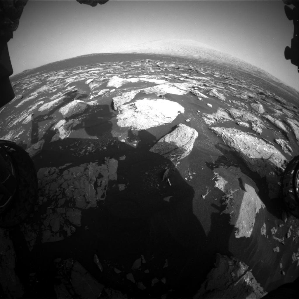 Nasa's Mars rover Curiosity acquired this image using its Front Hazard Avoidance Camera (Front Hazcam) on Sol 1545, at drive 2830, site number 59