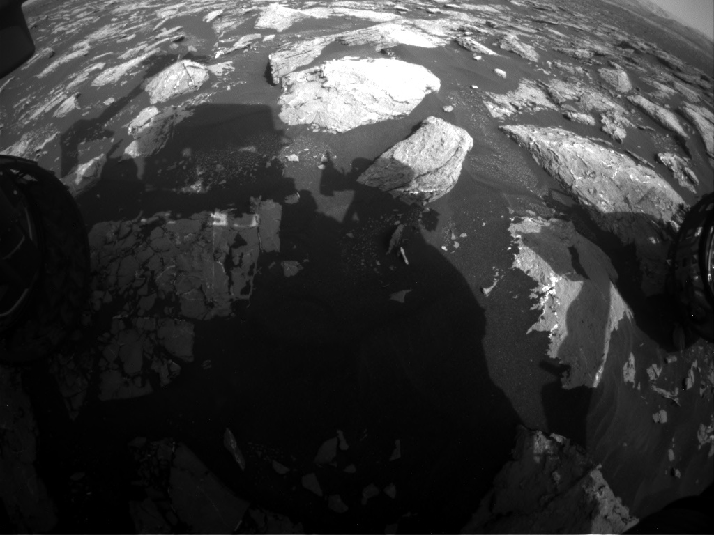 Nasa's Mars rover Curiosity acquired this image using its Front Hazard Avoidance Camera (Front Hazcam) on Sol 1546, at drive 2830, site number 59