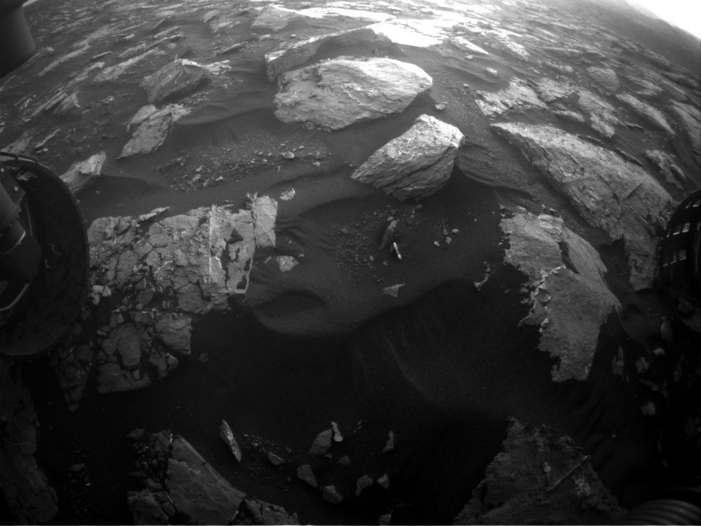 Nasa's Mars rover Curiosity acquired this image using its Front Hazard Avoidance Camera (Front Hazcam) on Sol 1547, at drive 2830, site number 59