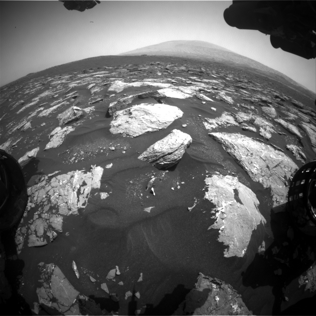 NASA's Mars rover Curiosity acquired this image using its Front Hazard Avoidance Cameras (Front Hazcams) on Sol 1547