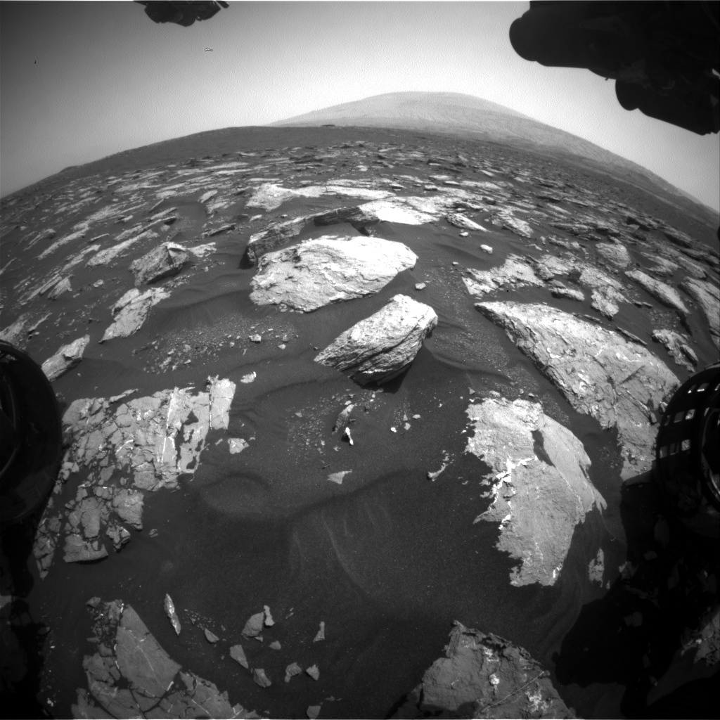 Nasa's Mars rover Curiosity acquired this image using its Front Hazard Avoidance Camera (Front Hazcam) on Sol 1548, at drive 2830, site number 59